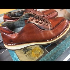 Men's timberland leather shoes